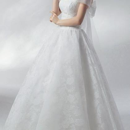 Wedding bridal dress lace flower ev..